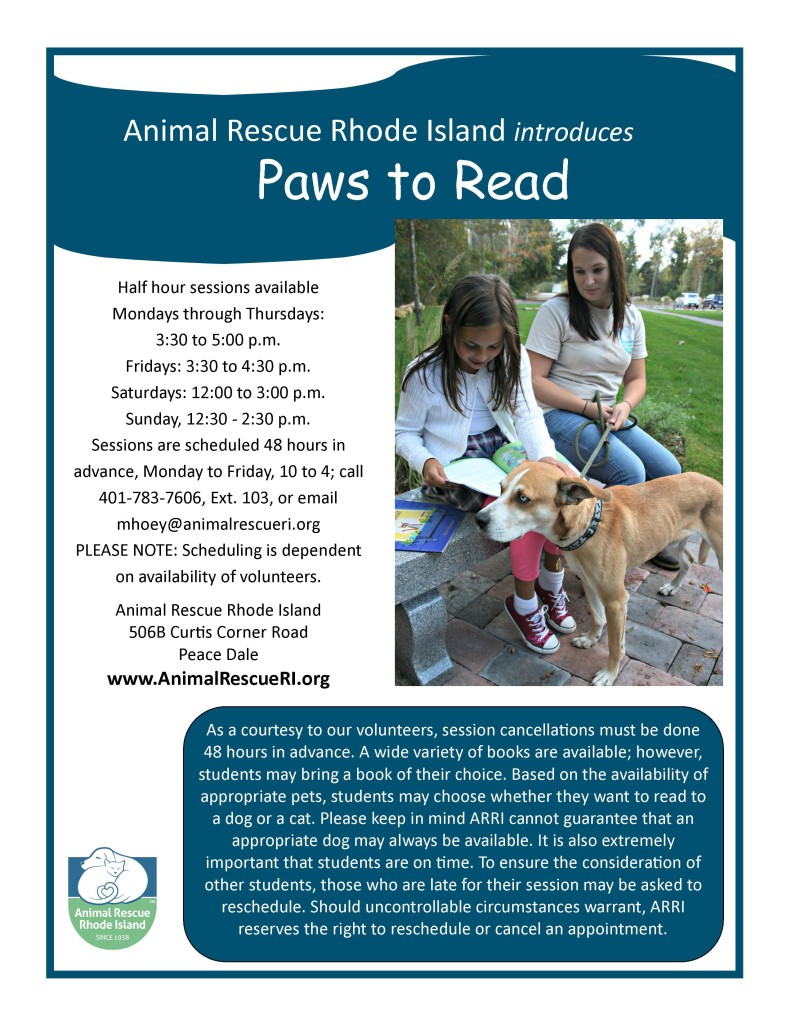 Paws to Read Flyer
